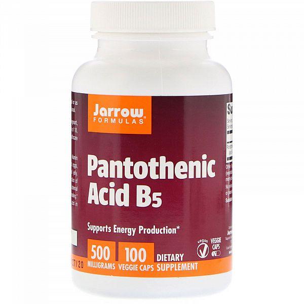 Пантотеновая кислота, витамин В5 (Pantothenic acid B5) 500 мг 100 капсул