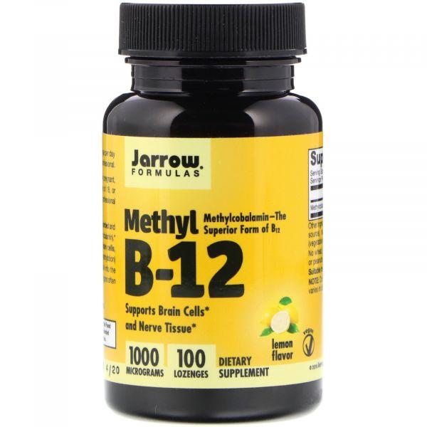 Витамин В12 (Methyl B12) 1000 мкг 100 леденцов со вкусом лимона