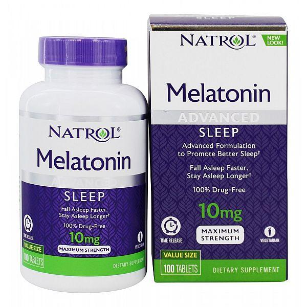 Мелатонин медленного высвобождения (Melatonin advanced sleep) 10 мг 100 таблеток