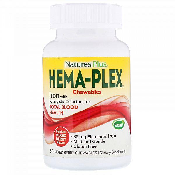 Витаминно-минеральный комплекс (HEMA-PLEX) 60 жевательных таблеток с ягодным вкусом