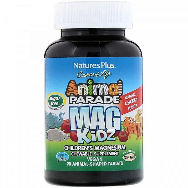 Магний для детей (Children's Magnesium Animal Parade) 50 мг вкус вишни 90 жевательных таблеток