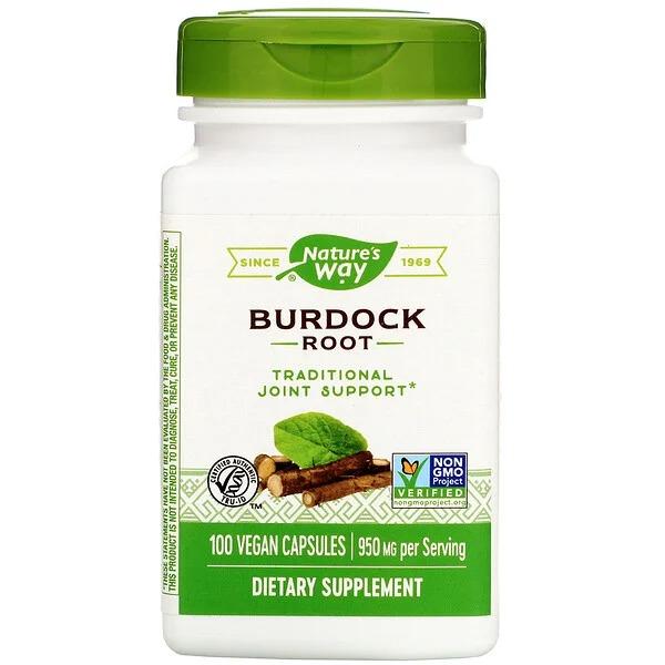 Корень лопуха (Burdock) 950 мг 100 капсул