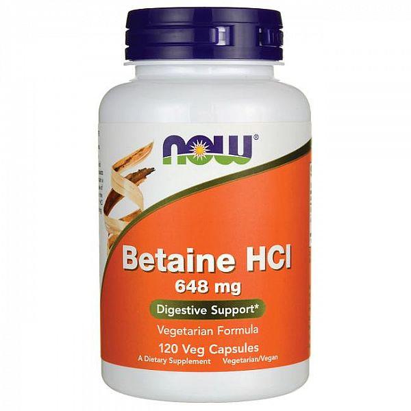 Бетаина гидрохлорид (Betaine HCL) 648 мг 120 капсул