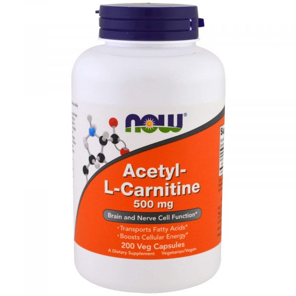 Ацетил-Л-карнитин (Acetyl-L-Carnitine) 500 мг 200 капсул