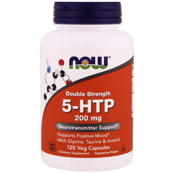 5-HTP 5-Гидрокситриптофан двойная сила (Double strength) 200 мг 120 капсул