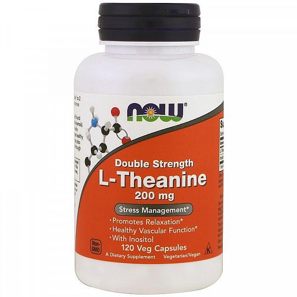 Л-Теанин двойная сила (L-Theanine) 200/100 мг 120 капсул