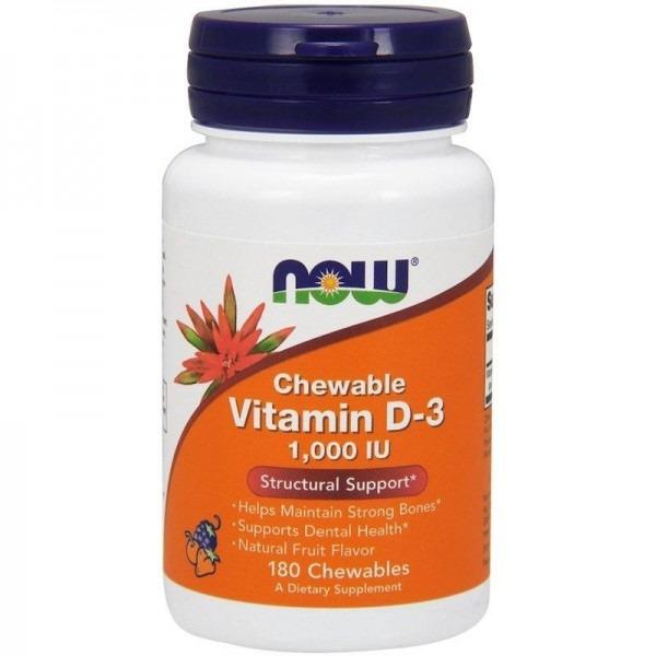 Витамин Д3 (Chewable Vitamin D-3) 1000 МЕ 180 жевательных таблеток с фруктовым вкусом