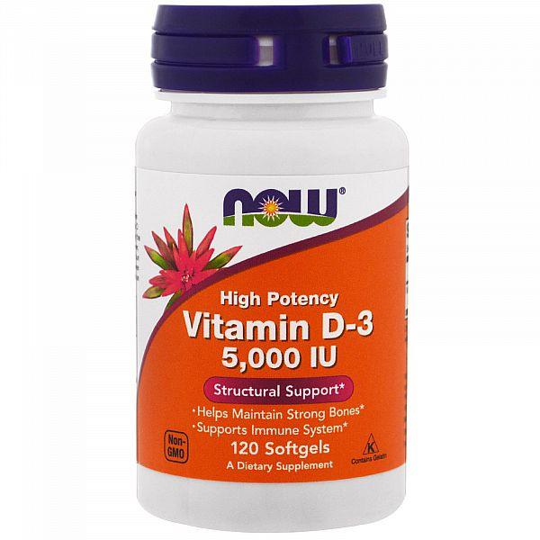 Витамин D3 (Vitamin D3) 5000 МЕ 120 капсул