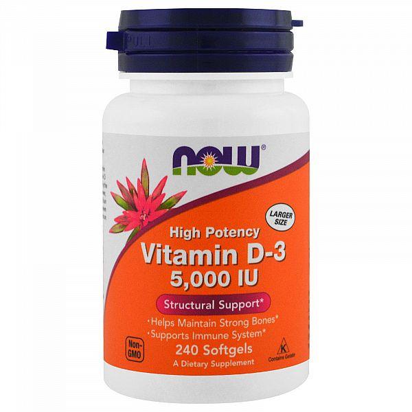 Витамин D3 (Vitamin D3) 5000 МЕ 240 капсул
