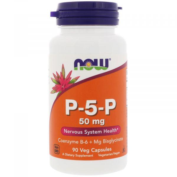 Магний и витамин В6 (P-5-P, пиридоксаль-5-фосфат) 25 мг/33 мг 90 капсул