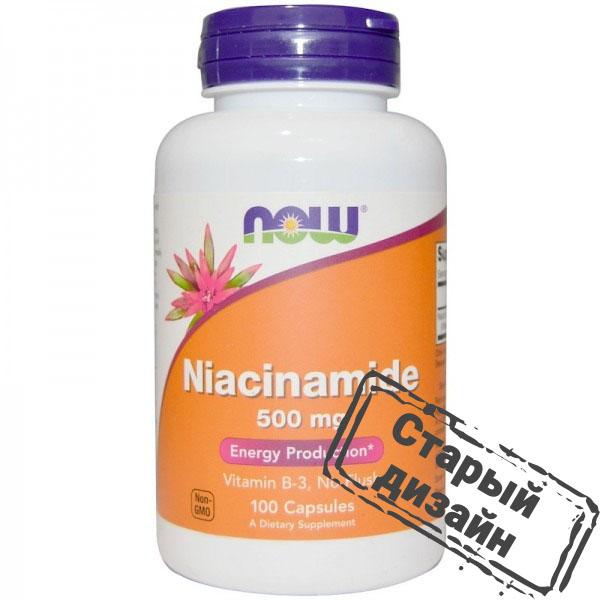 Ниацинамид (Niacinamide) 500 мг 100 капсул