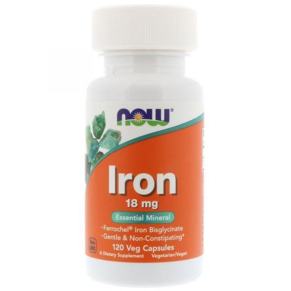 Железо (Iron) 18 мг 120 капсул
