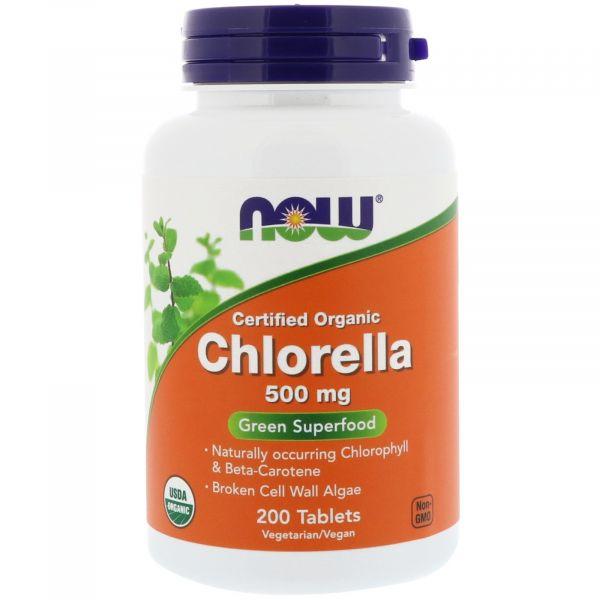 Хлорелла (Chlorella) органик 500 мг 200 таблеток