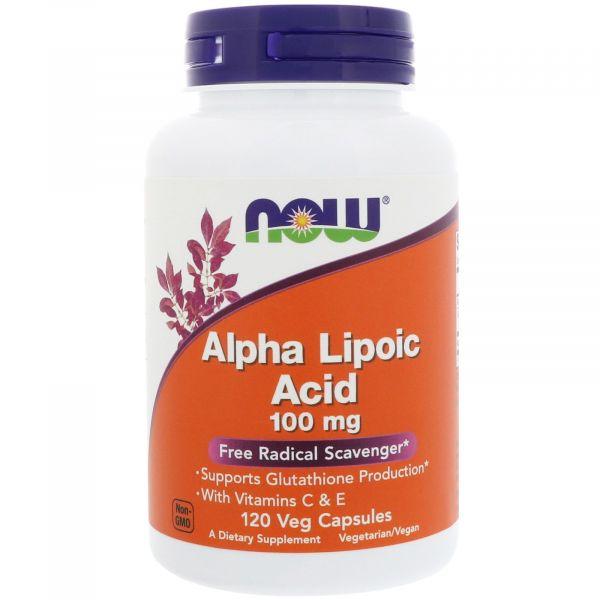 Альфа-липоевая кислота, Alpha Lipoic Acid 100 мг 120 капcул