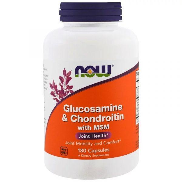 Глюкозамин Хондроитин с MSM (Glucosamine & Chondroitin with MSM) 180 капсул