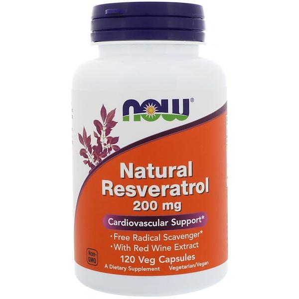 Натуральный ресвератрол (Natural Resveratrol) 200 мг 120 капсул