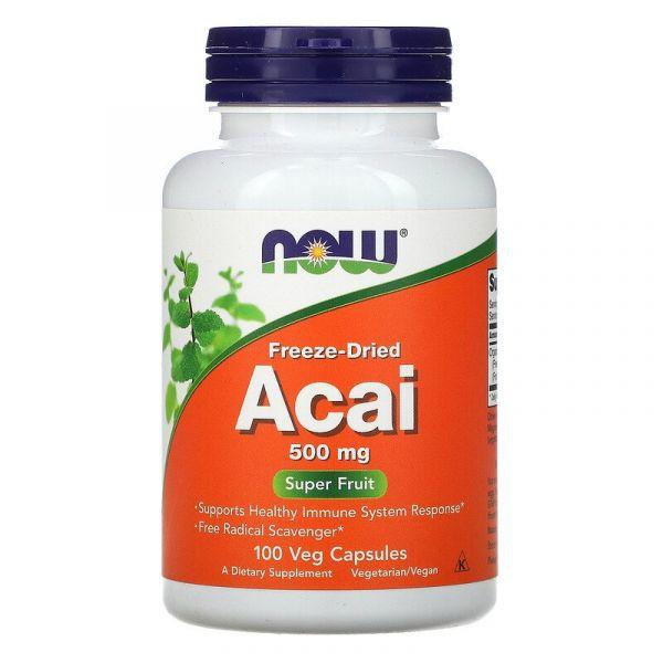 Сублимированные ягоды асаи (Freeze-Dried Acai) 500 мг 100 капсул