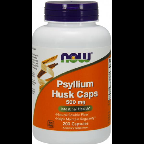 Псиллиум шелуха семян подорожника (Psyllium Husk) 500 мг 200 капсул
