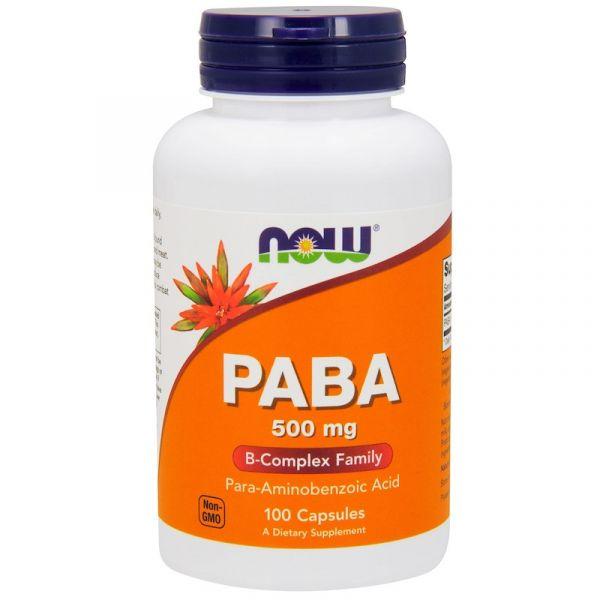 ПАБК, пара-аминобензойная кислота (PABA) 500 мг 100 капсул