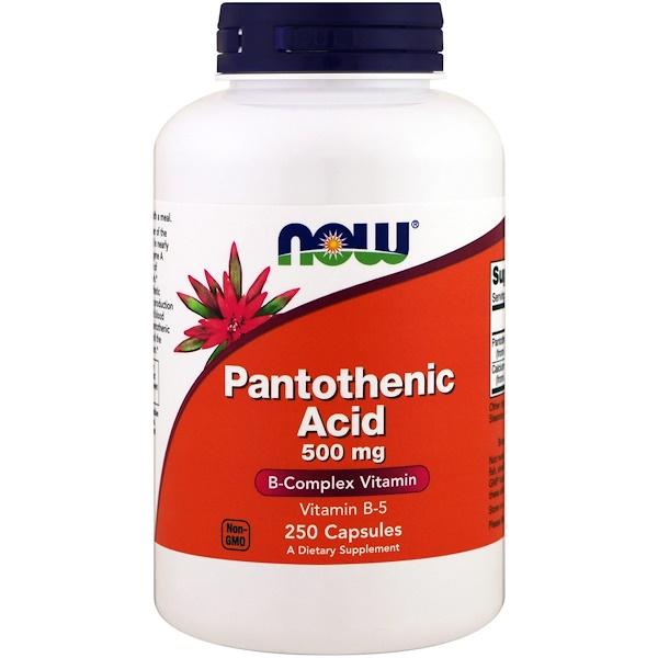 Пантотеновая кислота (Pantothenic acid) 500 мг 250 капсул