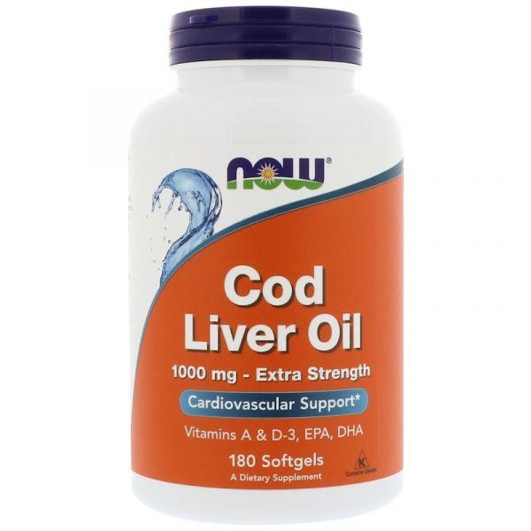Рыбий жир из печени трески (Cod Liver Oil) 1000 мг 180 капсул