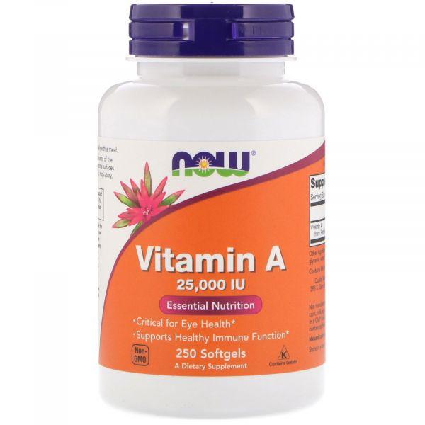 Витамин A (Vitamin A) 25000 МЕ 250 капсул