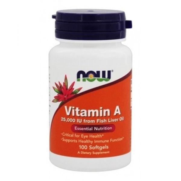 Витамин A (Vitamin A) 25000 МЕ 100 капсул