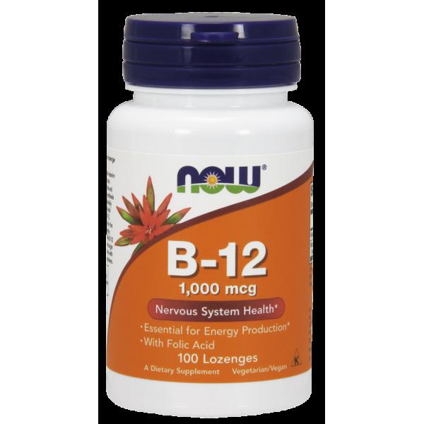 Витамин В12 и фолиевая кислота (Vitamin B-12 Folic Acid) 1000 мкг 100 леденцов