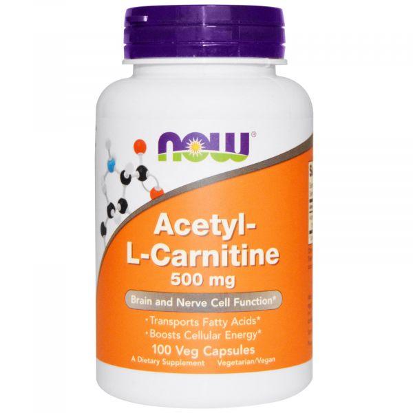 Ацетил-Л-карнитин (Acetyl-L-Carnitine) 500 мг 100 капсул