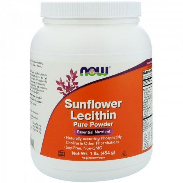 Чистый порошок подсолнечного лецитина (Sunflower Lecithin) 454 г