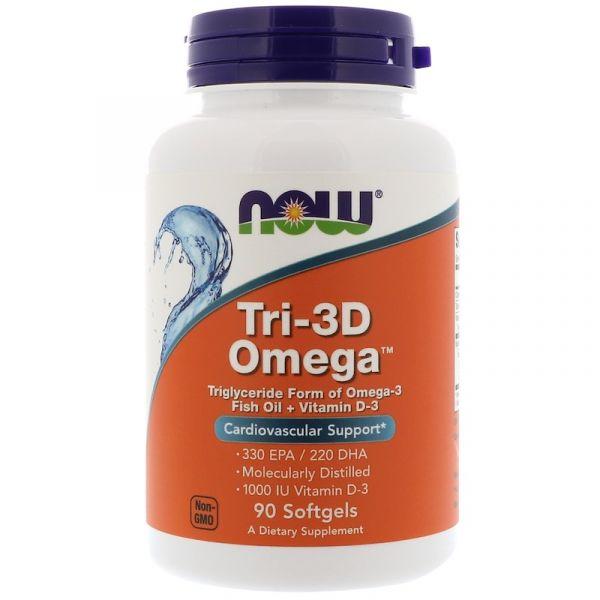 Рыбий жир + витамин D-3 (Омега Tri-3D) 90 капсул