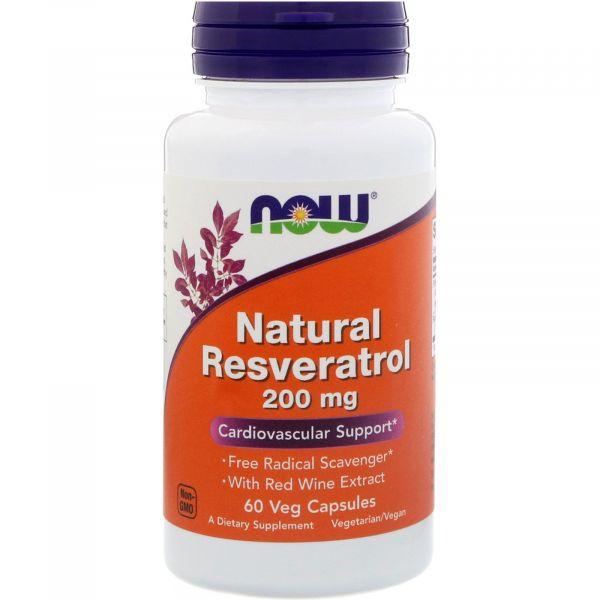 Натуральный ресвератрол (Natural Resveratrol) 200 мг 60 капсул