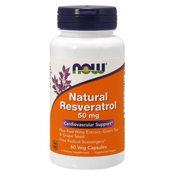 Натуральный ресвератрол (Natural Resveratrol) 50 мг 60 капсул