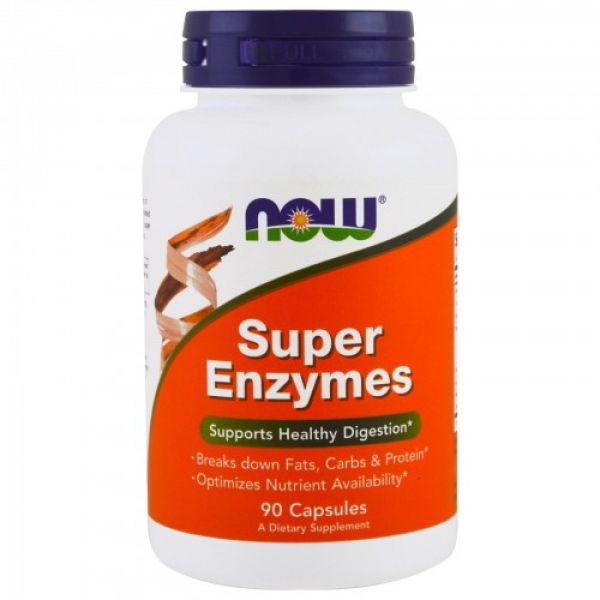 Натуральные ферменты для пищеварения (Super Enzymes) 90 капсул