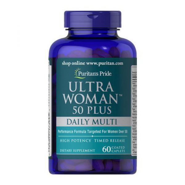 Мультивитамины для женщин ультра 50+ (Ultra Woman Multi-Vitamin 50+) 60 капсул