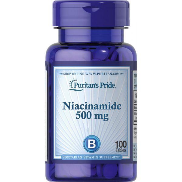 Ниацинамид (Niacinamide) 500 мг 100 таблеток