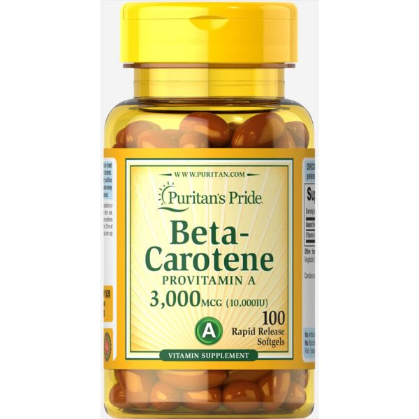 Бета-каротин (Beta-Carotene) 10000 МЕ 100 капсул