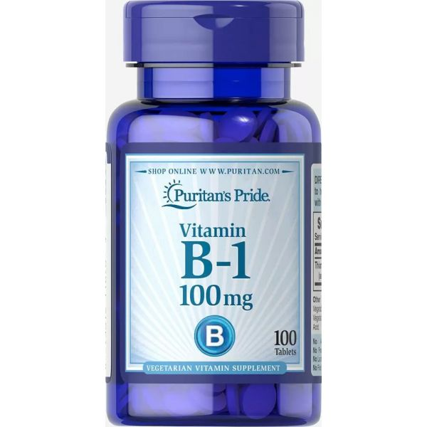 Витамин В1 (Vitamin B-1) 100 мг 100 таблеток