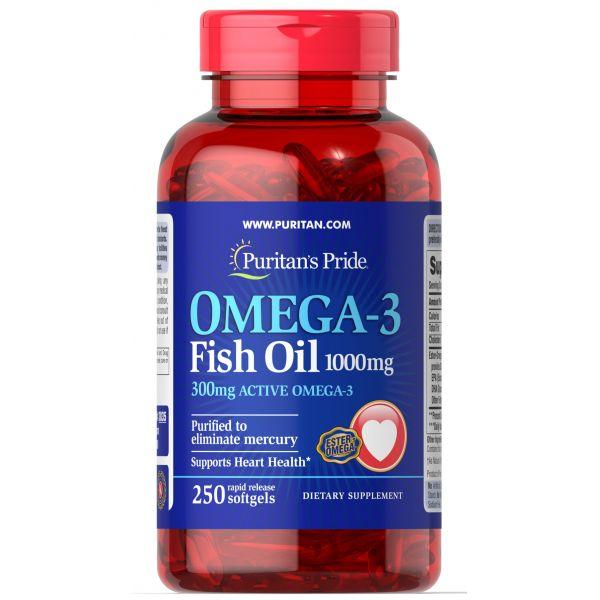 Рыбий жир Омега-3 (Omega-3 Fish Oil) 1000 мг 250 капсул