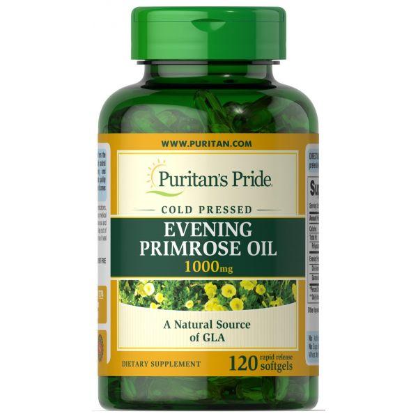 Масло вечерней примулы (Evening primrose oil) 1000 мг 120 капсул