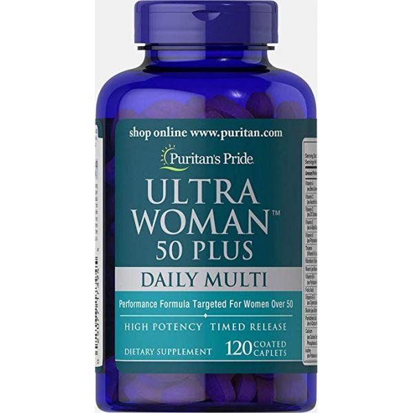 Мультивитамины для женщин ультра 50+ (Ultra Woman Multi-Vitamin 50+) 120 капсул