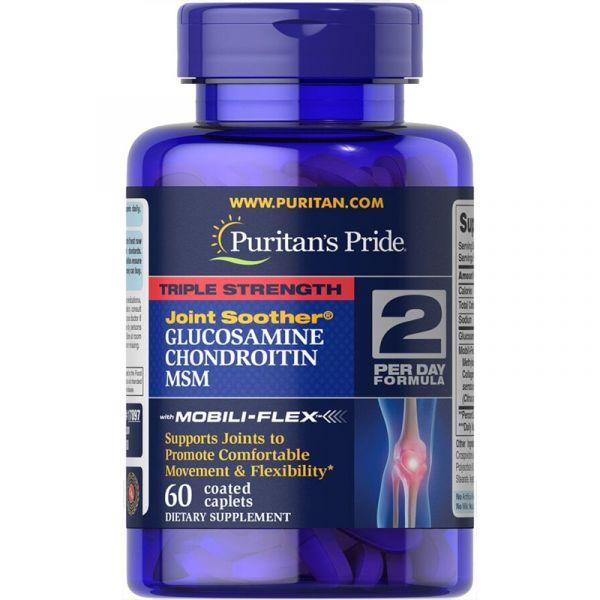 Глюкозамин хондроитин и МСМ (Triple Strength MSM) 750 мг/597 мг 60 капсул