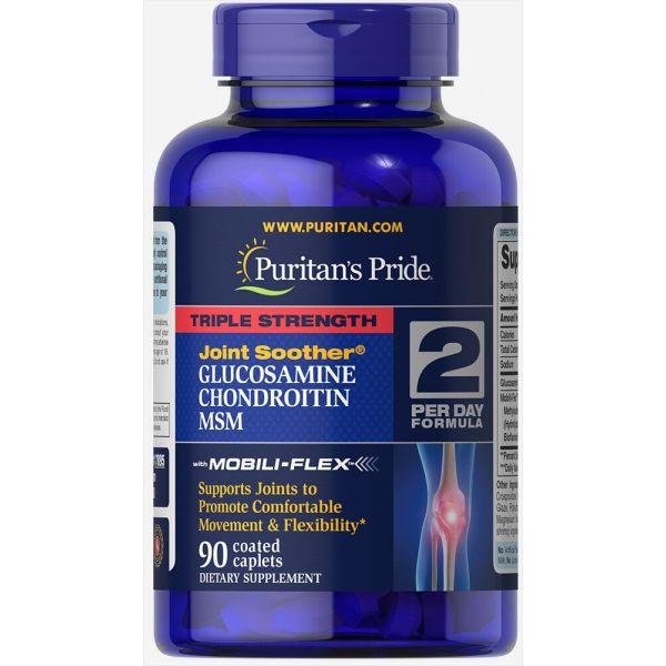 Глюкозамин хондроитин и МСМ (Triple Strength MSM) 750 мг/597 мг 90 капсул