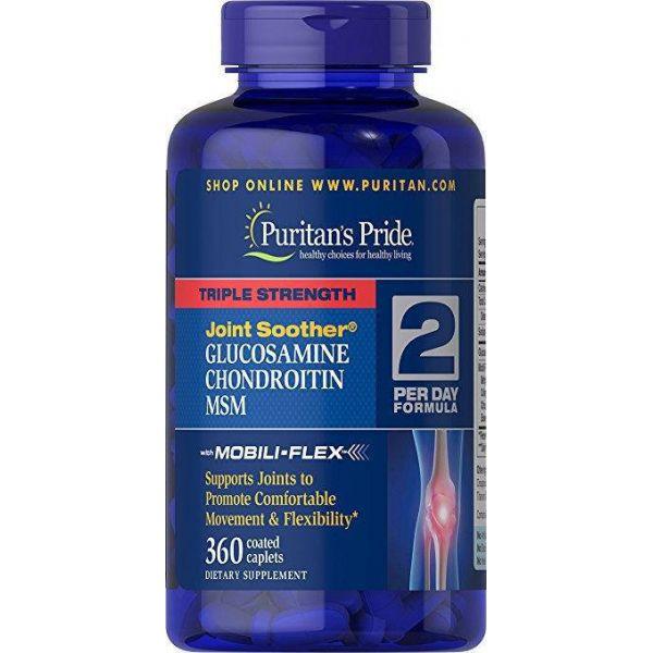 Глюкозамин хондроитин и МСМ (Triple Strength MSM) 750 мг/597 мг 360 капсул