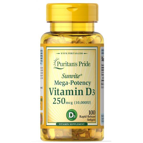 Витамин Д3 (Vitamin D3) 10000 МЕ 100 капсул