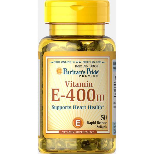 Витамин Е (Vitamin E) 400 МЕ 50 капсул