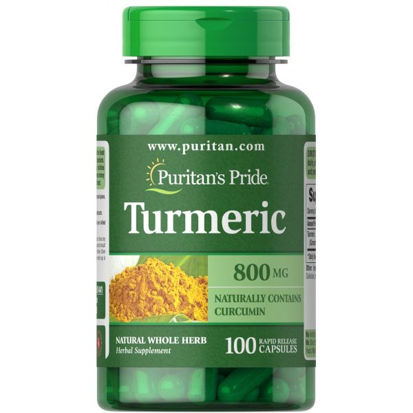 Куркума корень (Turmeric) 800 мг 100 капсул