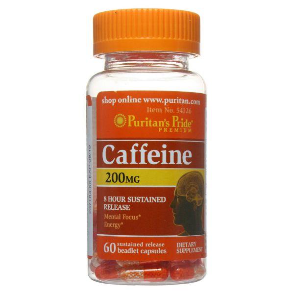Кофеин (Caffeine, 8-hour sustained release) 200 мг 60 капсул