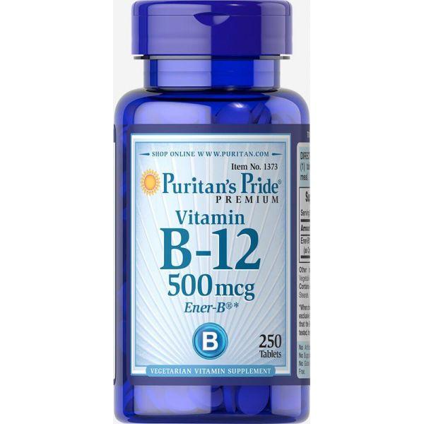Витамин В-12 (Vitamin B-12) 500 мкг 250 таблеток