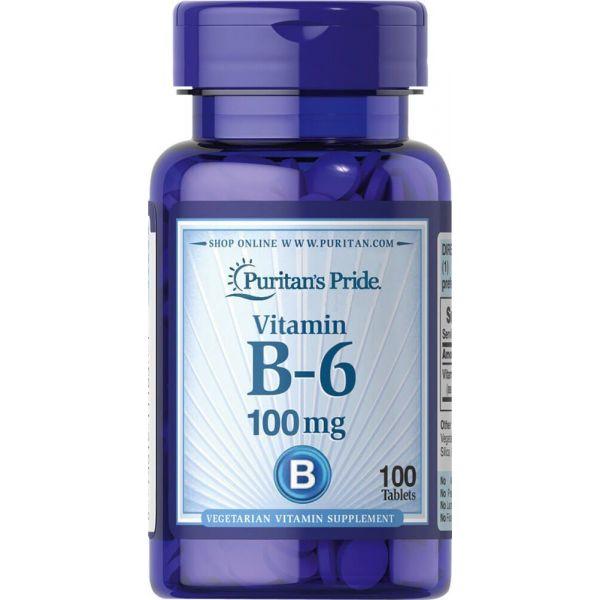 Витамин В6 (Vitamin B-6 Pyridoxine Hydrochloride) 100 мг 100 таблеток